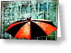 Urban Umbrella Greeting Card