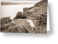 Urquhart Castle Ages Greeting Card