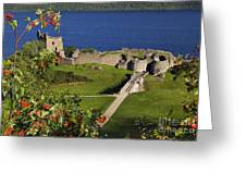 Urquhart Castle On Loch Ness Greeting Card