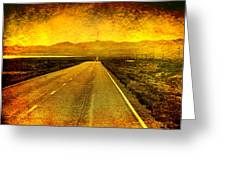 Us 50 - The Loneliest Road In America Greeting Card