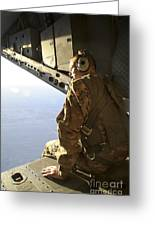 U.s. Air Force Commander Sits Harnessed Greeting Card