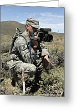 U.s. Air Force Sergeant Shoots Video Greeting Card
