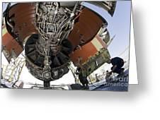 U.s. Air Force Technician Hydraulically Greeting Card