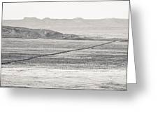 U.s. Alt-89 At Vermilion Cliffs Arizona Bw Greeting Card