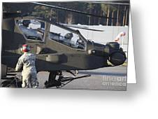 U.s. Army Ah-64d Apache Helicopter Greeting Card