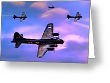 Us Army Air Corps B17g Flying Fortress Greeting Card
