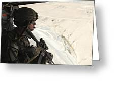U.s. Army Captain Looks Out The Door Greeting Card