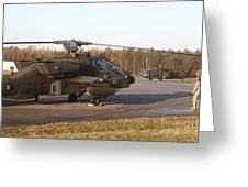 U.s. Army Helicopters At The Letzlingen Greeting Card