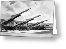 U.s. Army Missiles, C1965 Greeting Card