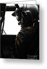 U.s. Army Officer Speaks To A Pilot Greeting Card
