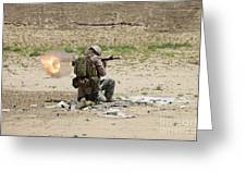 U.s. Army Soldier Fires Greeting Card