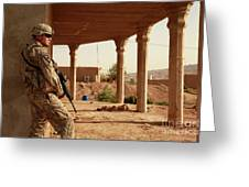 U.s. Army Soldier Pulls Security Greeting Card
