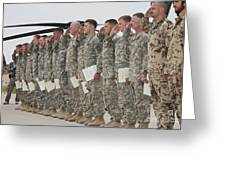 U.s. Army Soldiers And Recipients Greeting Card