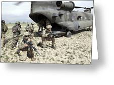 U.s. Army Soldiers Board A Ch-47 Greeting Card