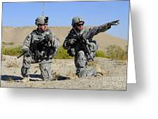 U.s. Army Soldiers Familiarize Greeting Card