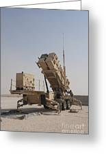 U.s. Army Soldiers Power-up A Mim-104 Greeting Card