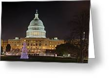 U.s. Capitol Christmas Tree 2009 Greeting Card by Metro DC Photography