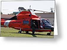 Us Coast Guard Helicopter Greeting Card