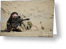 U.s. Contractor Sights In A Barrett Greeting Card