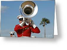 U.s. Marine Corps Drum And Bugle Corps Greeting Card