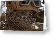 U.s. Marine Covered In Dirt Greeting Card