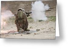 U.s. Marine Fires A Rocket-propelled Greeting Card