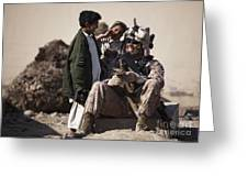 U.s. Marine Practices Pashto Greeting Card
