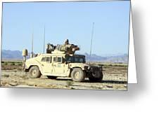 U.s. Marine Standing Ready Greeting Card