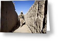 U.s. Marine Sweeps An Alleyway Greeting Card