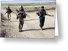U.s. Marines And Afghan National Police Greeting Card