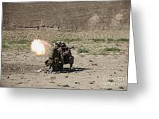 U.s. Marines Fire A Rocket-propelled Greeting Card