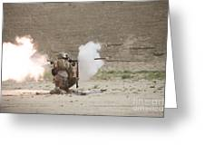 U.s. Marines Fire A Rpg-7 Grenade Greeting Card