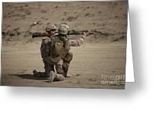 U.s. Marines Load A Fragmentation Round Greeting Card