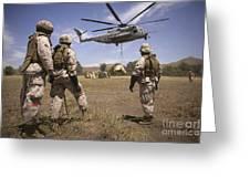U.s. Marines Observe Ch-53e Super Greeting Card
