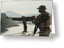 U.s. Navy Petty Officer Stands Watch Greeting Card