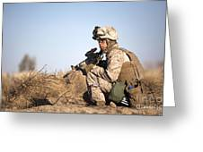 U.s. Navy Soldier Participates Greeting Card