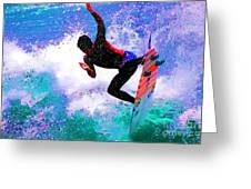 Us Open Of Surfing 2012 Greeting Card