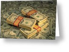 U.s. Paper Money Greeting Card
