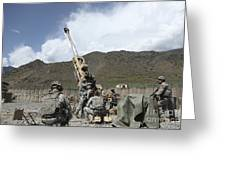 U.s. Soldiers Prepare To Fire Greeting Card