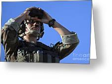 U.s. Special Operations Soldier Looks Greeting Card