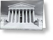 Us Supreme Court Building Viii Greeting Card