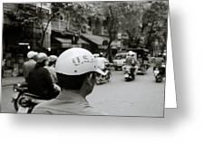 Usa And Hanoi Greeting Card