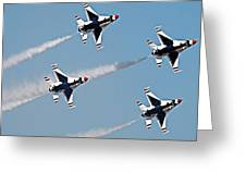 Usaf F-16 Thunderbirds Greeting Card