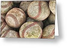 Used Baseballs Greeting Card by Wade Aiken