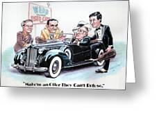 Used Car Salesmen Greeting Card