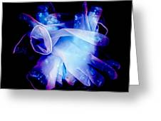 Used Surgical Gloves, Negative Image Greeting Card