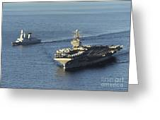 Uss Abraham Lincoln And French Navy Greeting Card