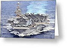 Uss Abraham Lincoln Transits Greeting Card