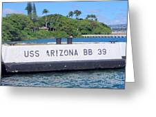 Uss Arizona Bb 39 Marker Greeting Card