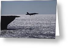 U.s.s. Coral Sea Aircraft Carrier Greeting Card